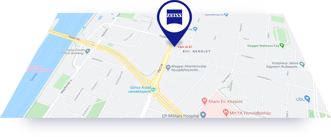 Taupert Szemvizsgálat -ZEISS Vision Center térkép
